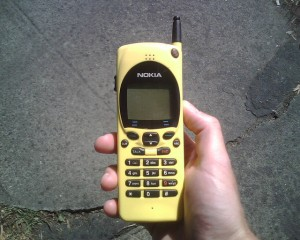 Vintage Yellow Nokia Mobile Phone