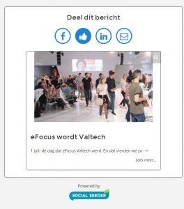 Social Seeder landingspagina eFocus Valtech