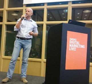 Wouter Veenboer tijdens Digital Marketing Live 2017
