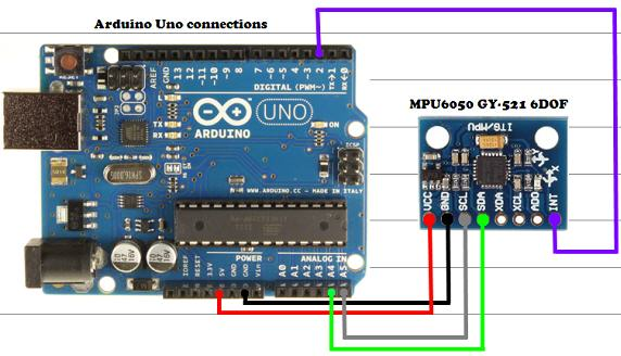 MPU6050-Arduino-Uno-Connections