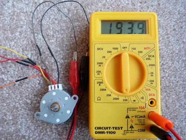 Unipolar Stepper Motor Wiring Test