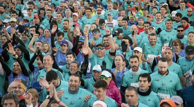 La media partió a las 7:30 am y congregó a participantes de varios países (La Nación)