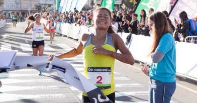 Edymar Brea se impuso por un segundo a su hermana Joselyn en España/Twitter: @ConcelloCoruna