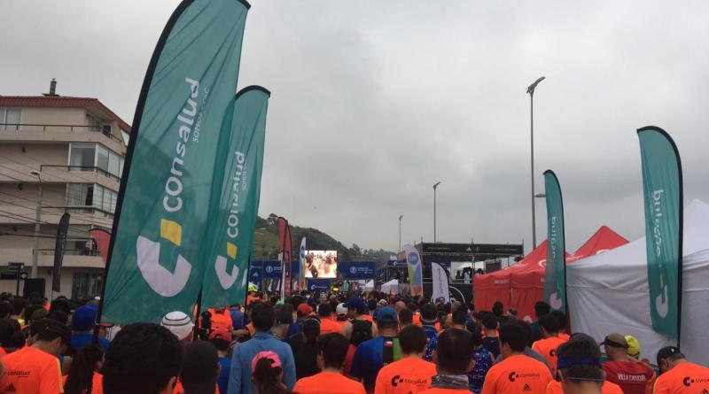 Momentos de la salida del maratón de Viña del Mar/Cortesía Lenin Moya