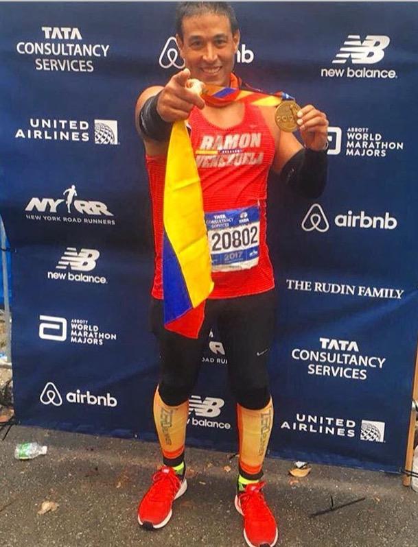 Ramón Mena desafía nuevamente NY y en marzo irá por el maratón Caracas42K/Ramón Mena