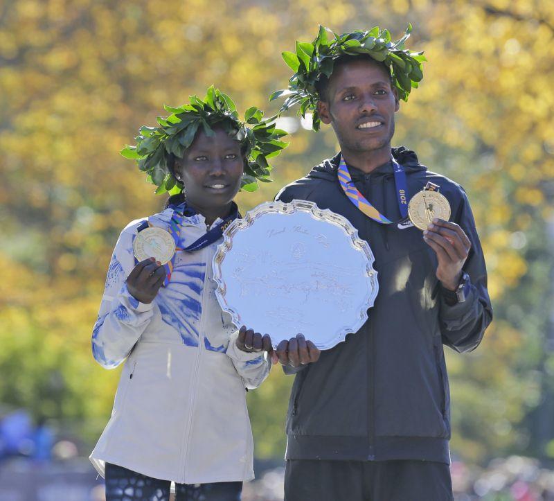 Mary Keitany y Lelisa Desisa, los segundos más rápidos en la historia del maratón de NY/AP