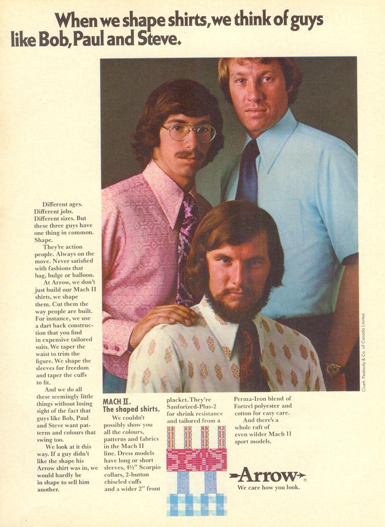 vintage menswear arrow shirt ad