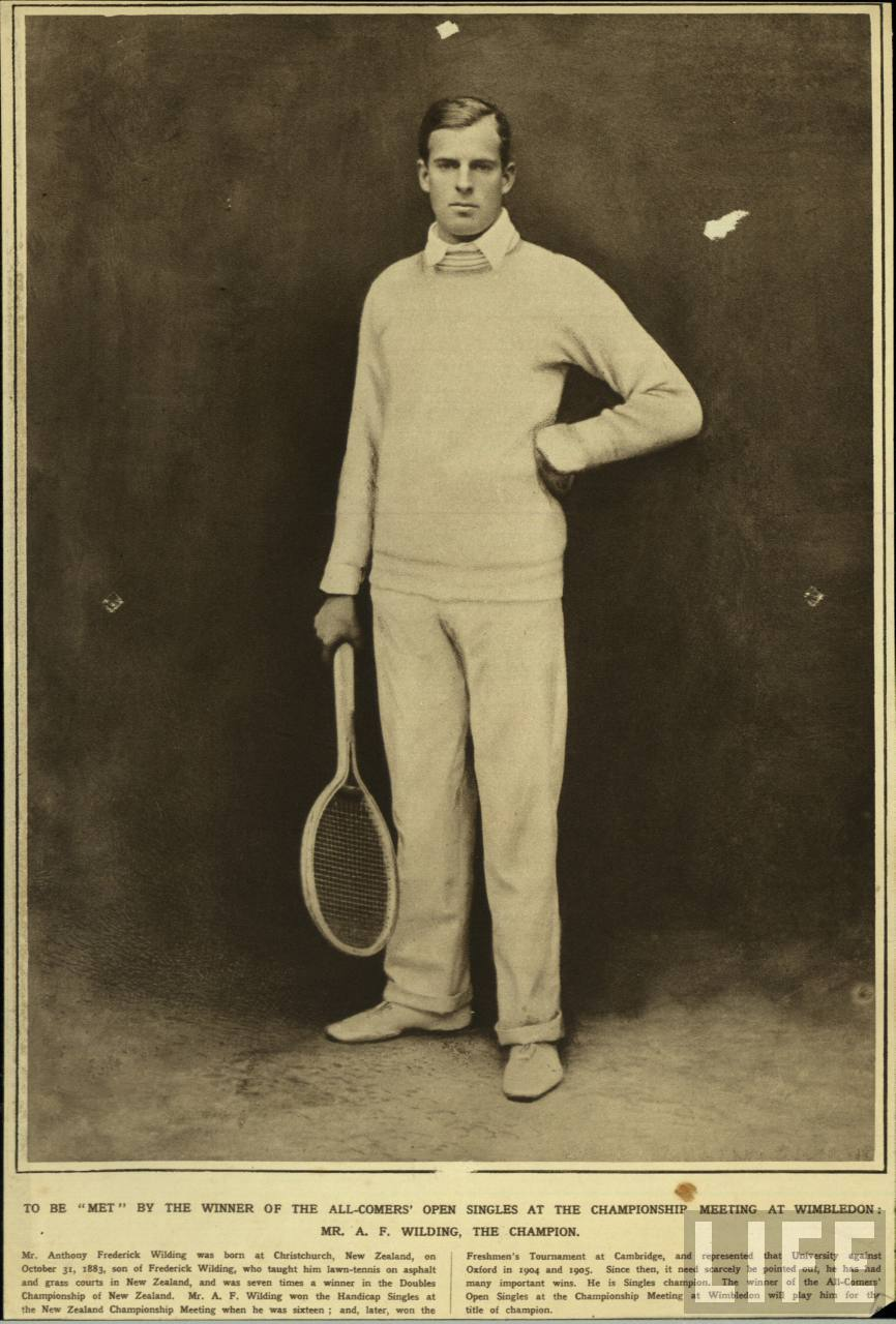 Mr. A. F. Wilding, Wimbledon Champion.