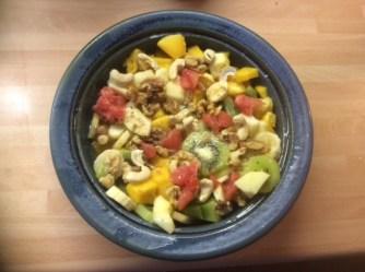 13.3.16 - Focaccia,Hummus,Salat,Obstsalat,vegan (22)