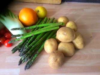 29.4.16 - Kartoffelgratin,grüner Spargel,Fenchelsalat (5)
