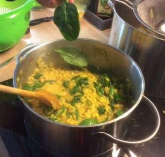 6.4.16 - Spinat Risotto,Salat,vegetarisch (10)