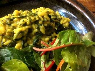 6.4.16 - Spinat Risotto,Salat,vegetarisch (18)
