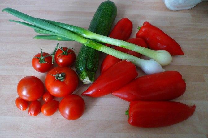 31.5.16 - Paprikapfanne,Zucchini,Süßkartoffelstampf (4)