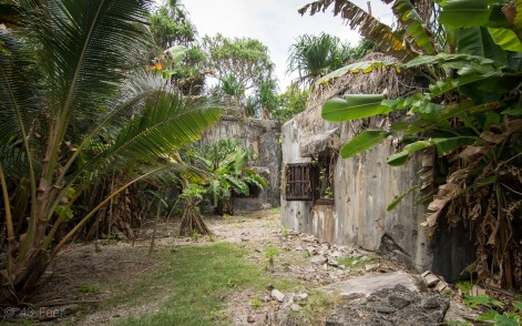 WWII Japanese utility buildings Maloelap, Marshall Islands
