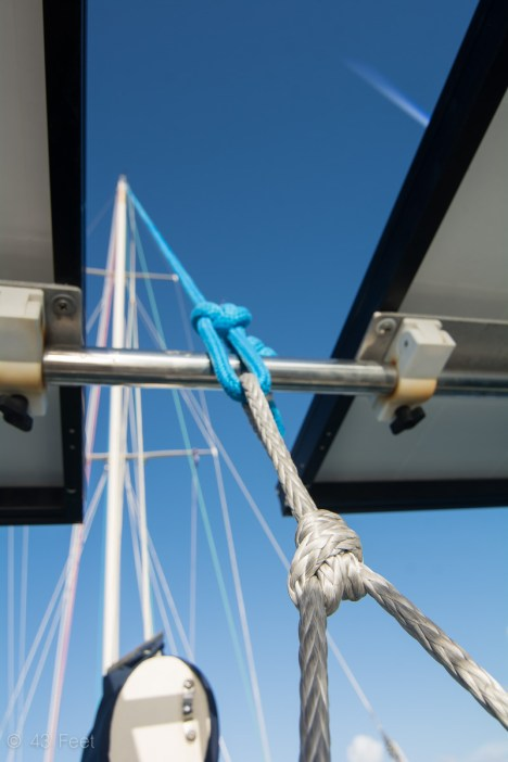 using a halyard as a backstay