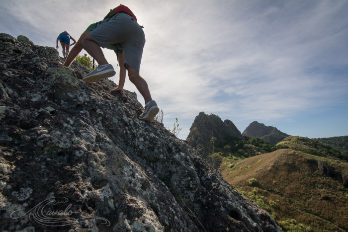 rock climbing hiking fiji yasawa islands waya