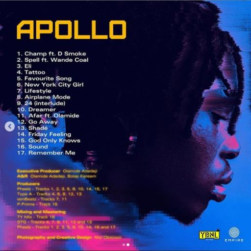 Album Fireboy DML - Apollo Back