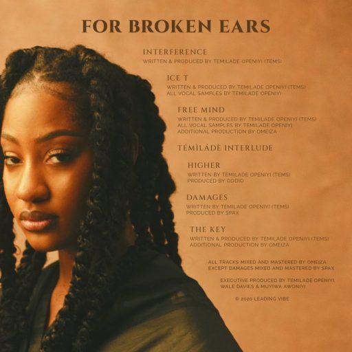 EP: Tems – For Broken Ears