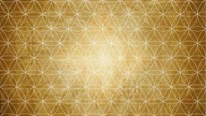 Sacred geometry in flower pattern shape on background