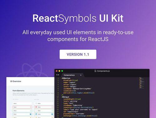 CreativeMarket - ReactSymbols 1.1.0 - React.js And Sketch