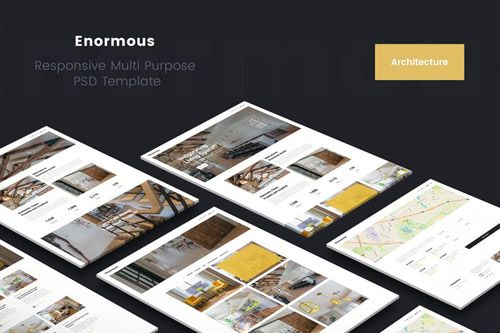 Enormous Architecture And Interior PSD Template