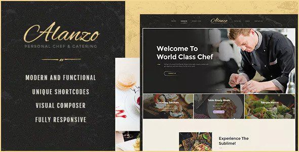 Alanzo v1.0.1 - Personal Chef & Catering WordPress Theme