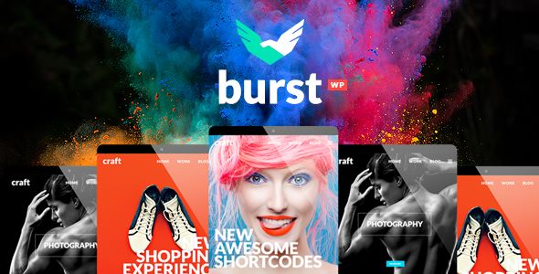Burst v2.1 - A Bold And Vibrant WordPress Theme