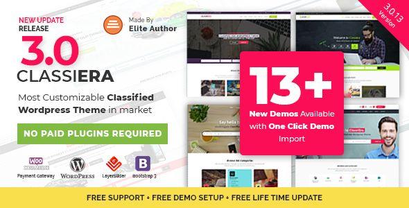 Classiera v3.0.13 - Classified Ads WordPress Theme