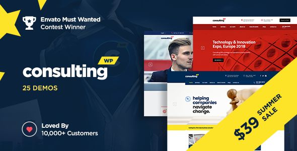 Consulting v4.1.6 - Business, Finance WordPress Theme