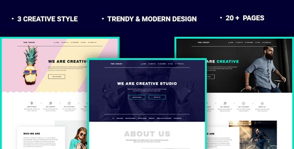The Crazy v1.1.1 - Creative Agency WP Template
