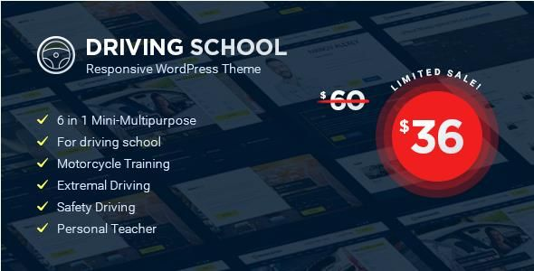 Driving School v1.3.0 - WordPress Theme