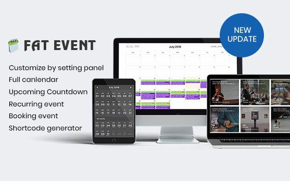 FAT Event v1.4.2 - WordPress Event And Calendar Booking