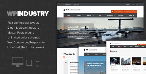 WP Industry v1.5 - Industrial & Engineering WP Theme