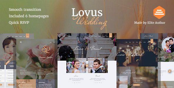 Lovus v1.0.4 - Wedding Planner WordPress Theme