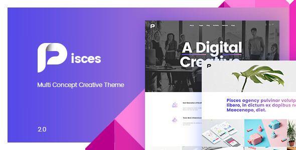 Pisces v2.0.2 - Multi Concept Creative Theme