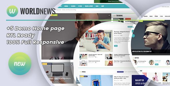 WorldNews v1.4 - Magazine RTL Responsive WordPress