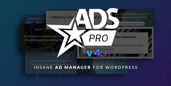 Ads Pro Plugin v4.2.12 - Multi-Purpose Advertising Manager