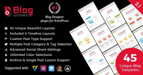 Blog Designer PRO For WordPress v2.1