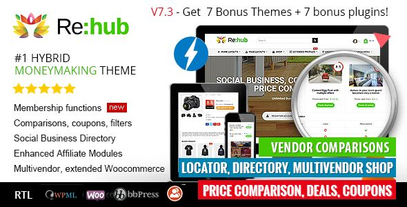 REHub v7.3 - Price Comparison, Business Community