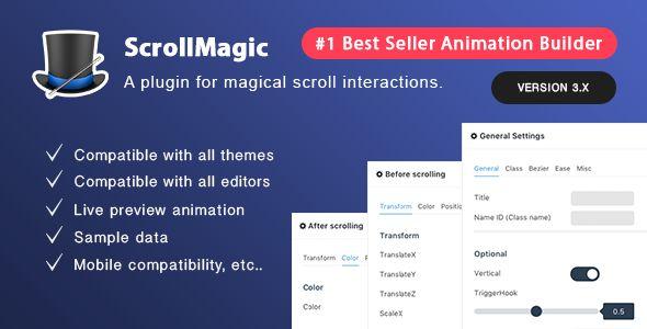 Scroll Magic v3.3.2.2 - Scrolling Animation Builder Plugin