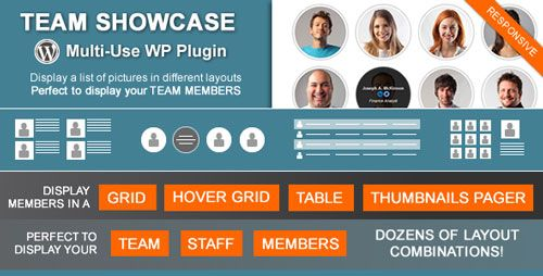 Team Showcase v2.1.3 - Codecanyon WordPress Plugin