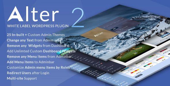 WpAlter v2.3.1 - White Label WordPress Plugin