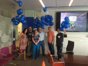 43 Blue Baloons