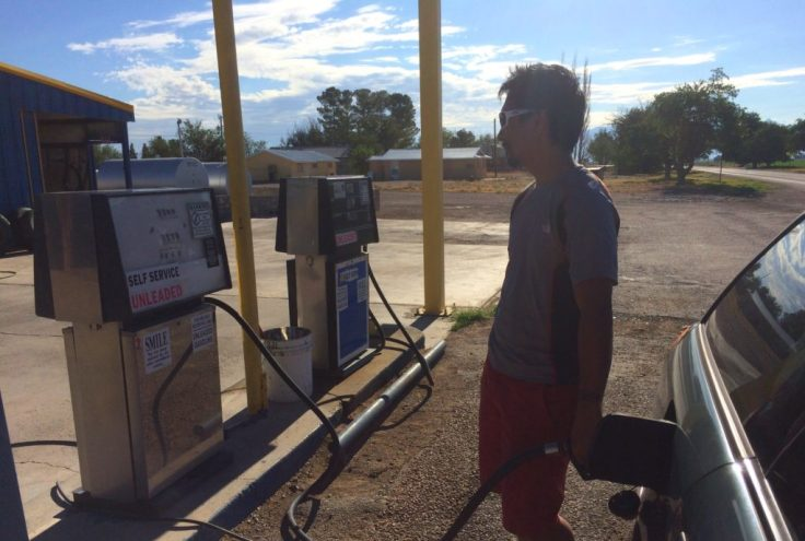 Remote gas station in Texas
