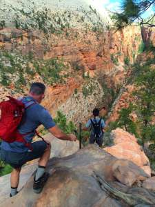 Gene and Trin decending from Angels Landing