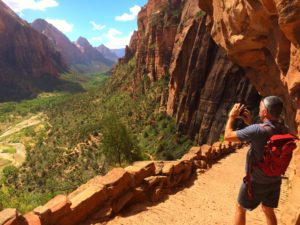 View from Angels Landing trail