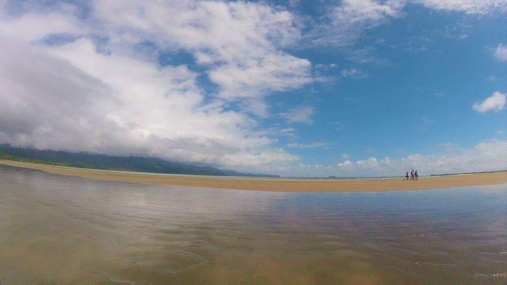 Uvita beach a mirrored surface