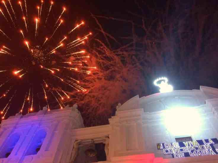 Fireworks in Leon Nicaragua