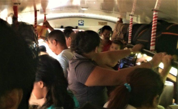 inside the Chicken bus