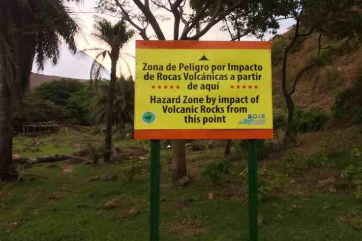 hazard zone of Telica Volcan